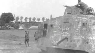 "Testing WW1 German A7V Tank ""Elfriede"""