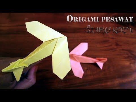 Cara membuat origami pesawat sederhana (Hadi Tahir)