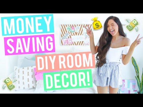 MONEY SAVING DIY Room Decor 2017 / Cheap and Affordable - Pinterest + Tumblr Inspired