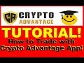 Crypto Advantage Review - Easy Trading for Beginners - How to Use (LIVE TUTORIAL)