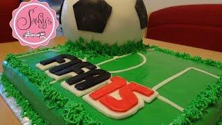 Fifa15 Torte/Fussball Torte/soccer cake/How to make by Sanny´s eSport Torten