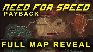 NEED FOR SPEED PAYBACK OFFICIAL MAP REVEAL PLUS 68 CARS AND MORE