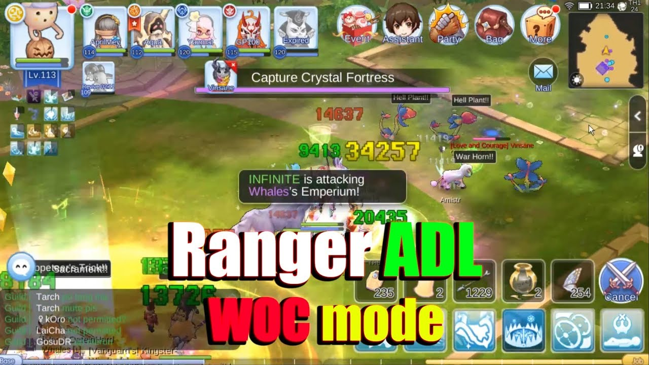 Ragnarok M Eternal Love Ranger ADL WOC Mode