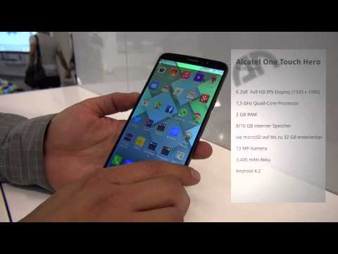 Alcatel One Touch Hero - Hands-On - IFA 2013 - androidnext.de