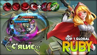 Ruby Annoying Damage & Unlimited Lifesteal by ღ¢'яιиєღ Top 1 Global Ruby ~ Mobile Legends
