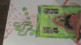 speed draw - creeper face