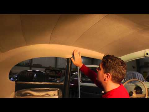Classic VW BuGs How to Install Volks Multi-Piece Beetle Headliner Pt.6 of 6