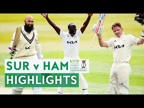 Hashim Amla 215, Ollie Pope 131 & Roach 8-40! | Surrey v Hants