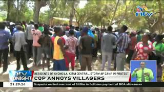 Residents of Syongila, Kitui Central, storm AP camp in protest over infidelity