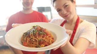 Video Diary 3 - Making Pasta Pomodoro At Clusi Batusi!