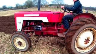1969 International Harvester 276 2.4 Litre 4-Cyl Diesel Tractor (38 HP) With Ransomes Plough
