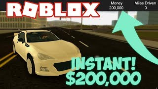 $200,000 IN ONE MINUTE IN VEHICLE SIMULATOR! (Roblox Vehicle Simulator)