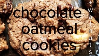 Cookie Swap Recipe: How To Make Chocolate Oatmeal Cookies (with Walnuts)