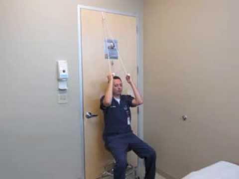Shoulder Rehabilitation Exercise   Rope U0026 Pulley Demonstration   YouTube