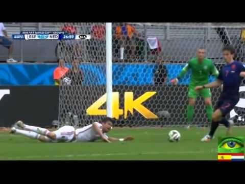 Spain vs Netherlands   FIFA World Cup 2014  English Commentary
