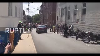 USA: Terrifying moment car rams into counter-protesters at Charlottesville alt-right rally