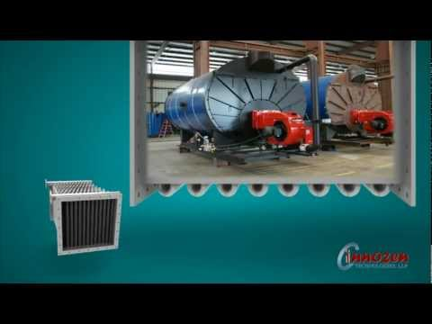 Finned Tube Heat Exchanger Animation