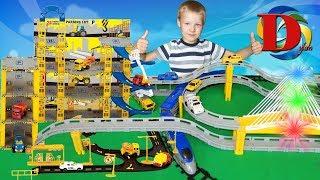 Городской транспорт и Поезда для детей из набора / Видео про игрушки машинки