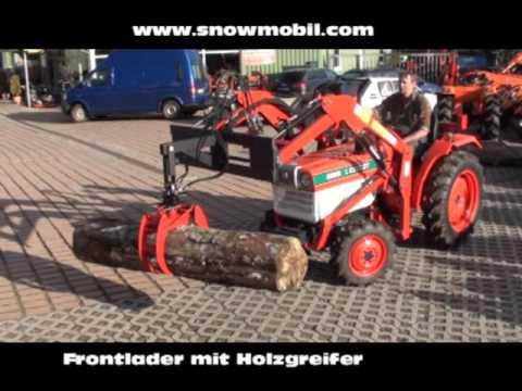frontlader anbau mit holzgreifer f r traktoren youtube