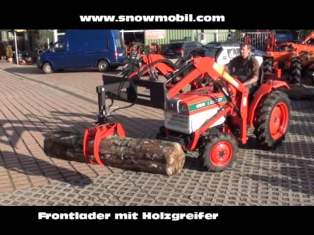 Frontlader Anbau mit Holzgreifer für Traktoren