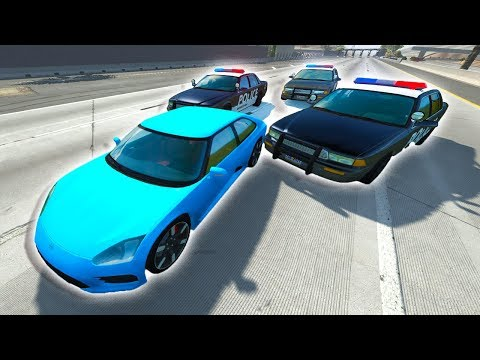 CRAZY HIGHWAY HIGH SPEED POLICE CHASES ON WEST COAST USA MAP! - BeamNG Police Pursuit Crashes