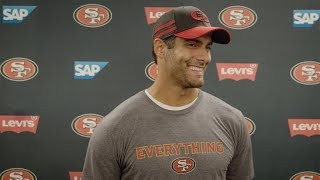 Jimmy Garoppolo: 'It's A Nice Feeling to Be Back Out There'