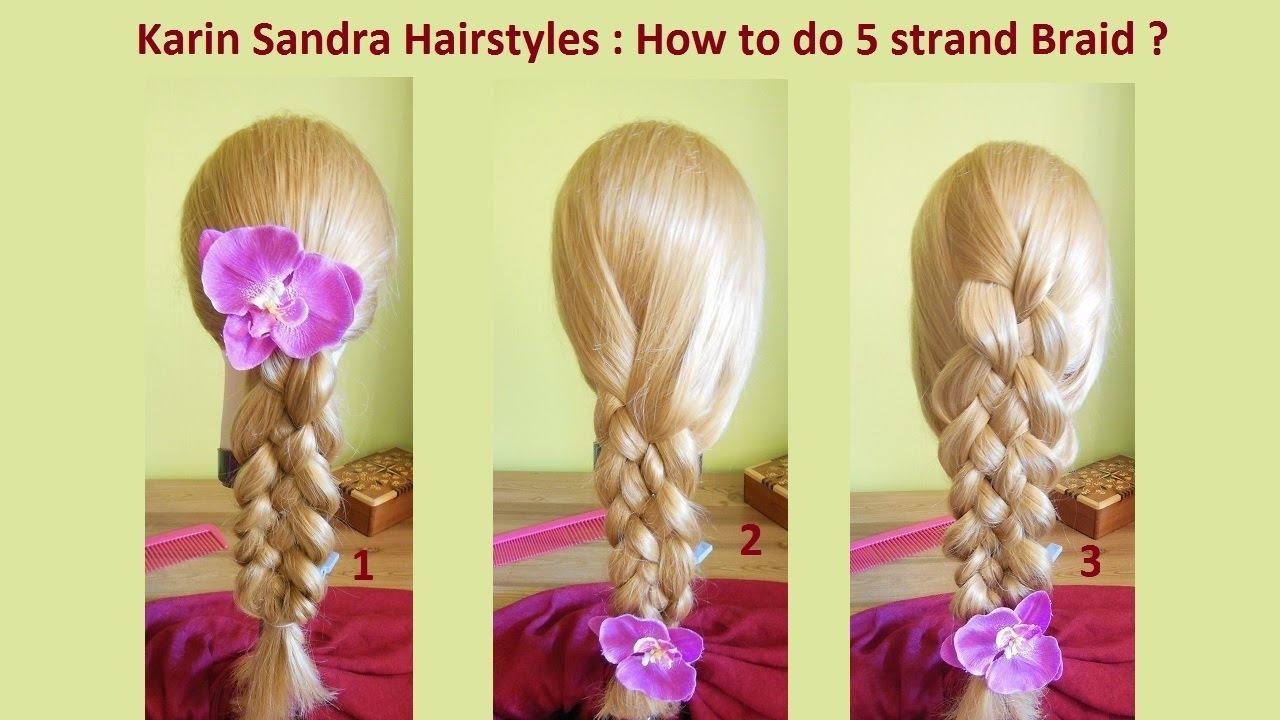 how to do a 5 strand braid 5 strand dutch braid 5