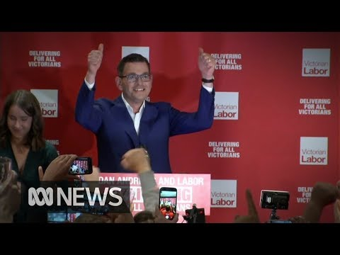 Victorian election result a Labor landslide, leader Daniel Andrews claims victory   ABC News
