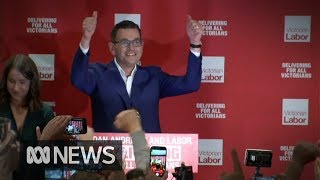 Victorian election result a Labor landslide, leader Daniel Andrews claims victory | ABC News