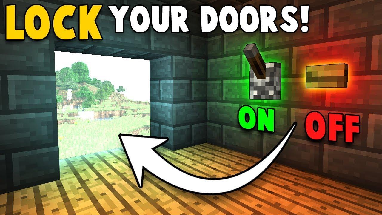 how to build a lockable door in minecraft