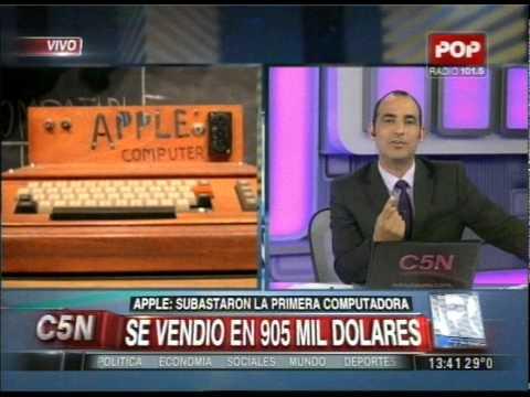 C5N - TECNOLOGIA: SUBASTARON LA PRIMERA COMPUTADORA APPLE