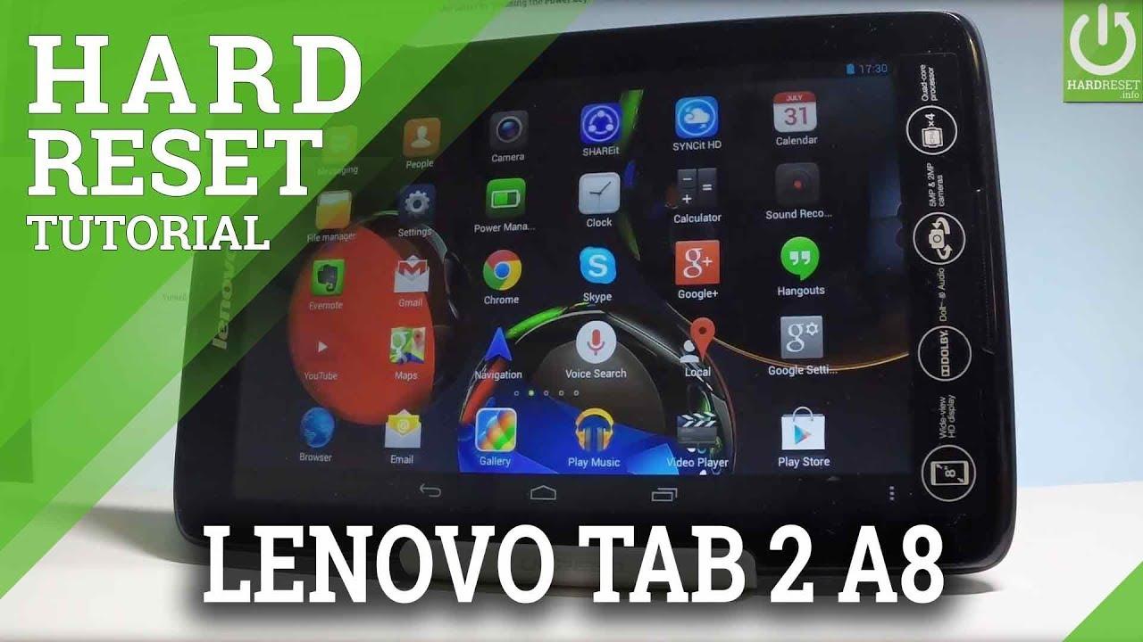 Hard Reset LENOVO Tab 2 A10-30 - HardReset info