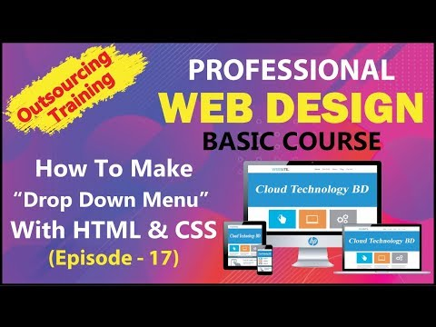 """How To Make """"Drop Down Menu"""" With HTML & CSS (Episode - 17) 