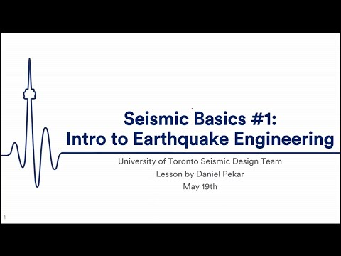 Seismic Academy #1  - Seismic Engineering Basics 1