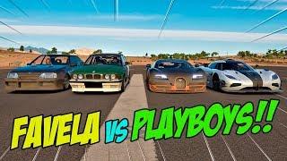 ROLOU ATÉ TRETA!! - PLAYBOY$ VS FAVELA - FORZA HORIZON 3