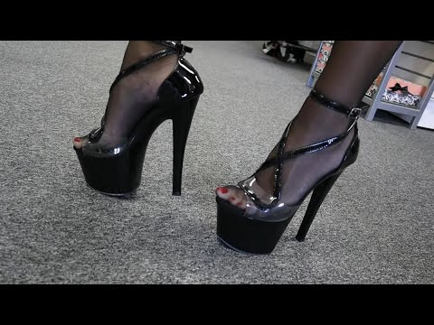 review-unbox-pleaser-sky-355-black-strappy-7-inch-high-heel-shoes-with-try-out-walk
