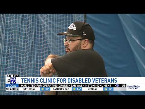 ThanksUSA Holds Tennis Clinic to Help Disabled Veterans