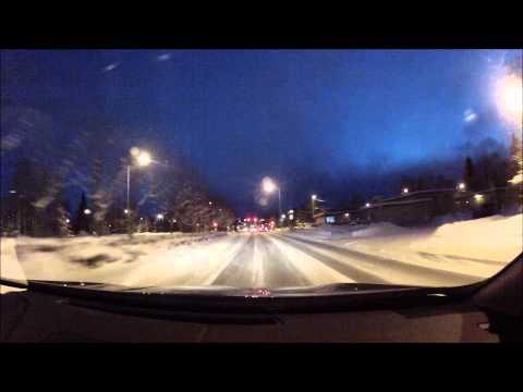 Drive Downtown to Alaska Regional Hospital Anchorage Alaska