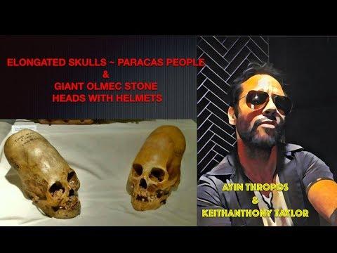 Proof of Aliens: Elongated Skulls & Olmec Giant Stone Heads with Helmets