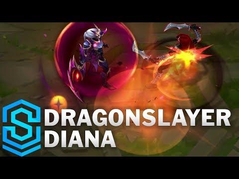 Dragonslayer Diana Skin Spotlight - Pre-Release - League of Legends
