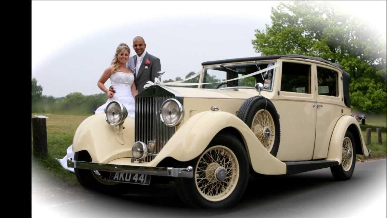 vintage rolls royce wedding car hire essex - youtube