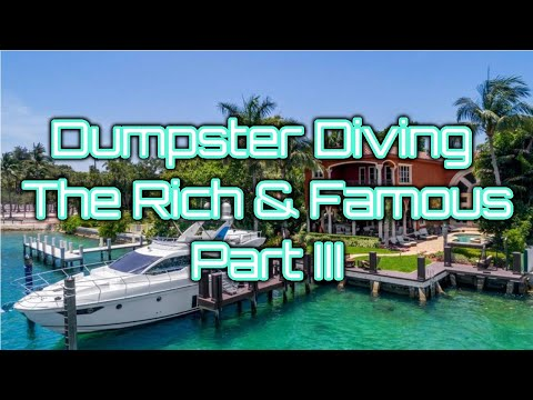 Dumpster Diving The Rich & Famous Trash Part III