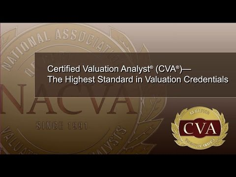 Certified Valuation Analyst - The Highest Standard in Valuation Credentials