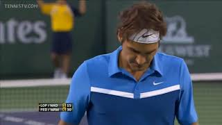 The day Federer vs Nadal in a Men's Doubles Semi Final Match