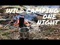 Winter wild camping in Polish forests - one night