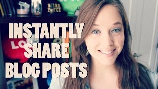 How to Auto-Share Your New Blog Posts