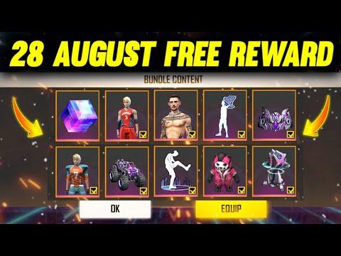 28 AUGUST FREE REWARD 🤩   FREE FIRE NEW EVENT   4TH ANNIVERSARY PEAK DAY REWARD