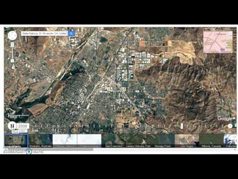 SILENT VIDEO: Riverside Land Use Time Lapse 1985 - 2015