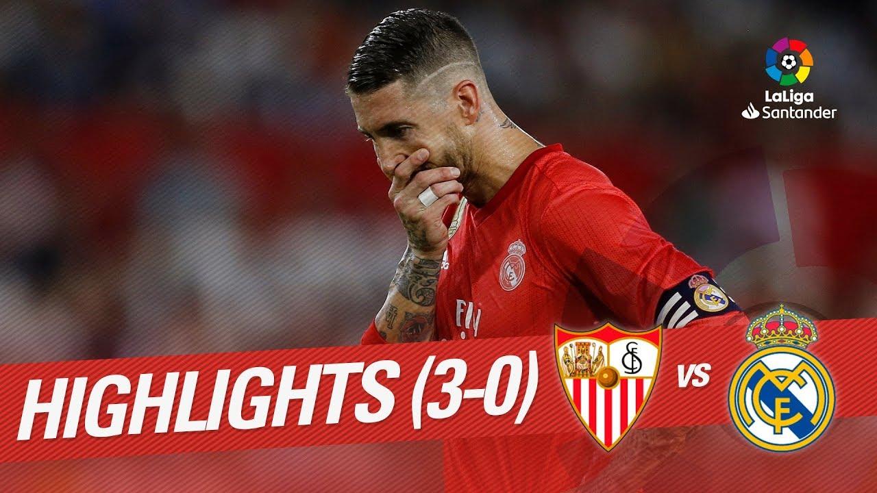 Resumen de Sevilla FC vs Real Madrid (3-0) - YouTube