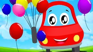 Blowing Balloons   Little Red Car Videos For Babies   Cars For Toddlers